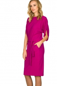 D-ETOILES CASIOPE |  Wrinkle-free stretch dress Sucre | pink  | Picture 4