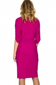 D-ETOILES CASIOPE |  Wrinkle-free stretch dress Sucre | pink  | Picture 5