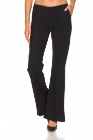 D-ETOILES CASIOPE |  Wrinkle-free stretch trousers Rodez | black  | Picture 4