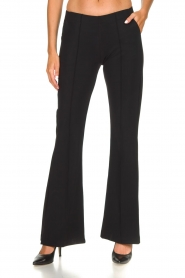 D-ETOILES CASIOPE |  Wrinkle-free stretch trousers Rodez | black  | Picture 3