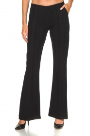 D-ETOILES CASIOPE |  Wrinkle-free stretch trousers Rodez | black  | Picture 2