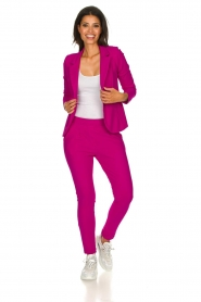 D-ETOILES CASIOPE |  Wrinkle-free stretch trousers Rover | pink  | Picture 3