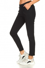 D-ETOILES CASIOPE |  Wrinkle-free stretch trousers Rover | black  | Picture 4