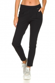 D-ETOILES CASIOPE |  Wrinkle-free stretch trousers Rover | black  | Picture 3