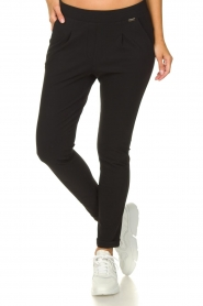 D-ETOILES CASIOPE    Wrinkle-free stretch trousers Rover   black    Picture 2