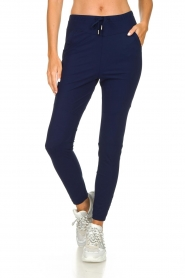 D-ETOILES CASIOPE |  Wrinkle-free stretch pants Guet | blue  | Picture 2