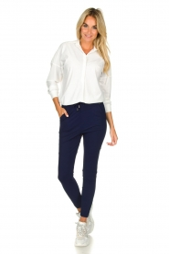 D-ETOILES CASIOPE |  Wrinkle-free stretch pants Guet | blue  | Picture 3