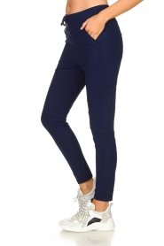 D-ETOILES CASIOPE |  Wrinkle-free stretch pants Guet | blue  | Picture 4