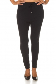 D-ETOILES CASIOPE |  Wrinkle-free stretch trousers Guet | black  | Picture 4