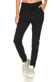 D-ETOILES CASIOPE |  Wrinkle-free stretch trousers Phé Plus | black  | Picture 3
