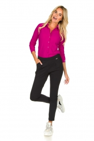 D-ETOILES CASIOPE |  Wrinkle-free stretch blouse Petite | pink  | Picture 3