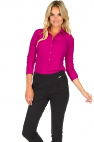 D-ETOILES CASIOPE |  Wrinkle-free stretch blouse Petite | pink  | Picture 5