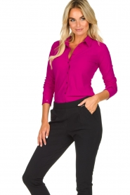 D-ETOILES CASIOPE |  Wrinkle-free stretch blouse Petite | pink  | Picture 4