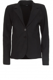 D-ETOILES CASIOPE |  Wrinkle-free stretch blazer Saint | black  | Picture 1
