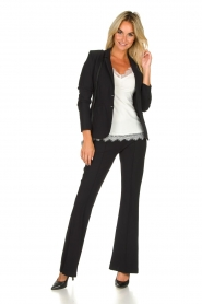 D-ETOILES CASIOPE |  Wrinkle-free stretch blazer Saint | black  | Picture 3