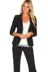 D-ETOILES CASIOPE |  Wrinkle-free stretch blazer Saint | black  | Picture 4