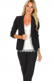 D-ETOILES CASIOPE |  Wrinkle-free stretch blazer Saint | black  | Picture 2