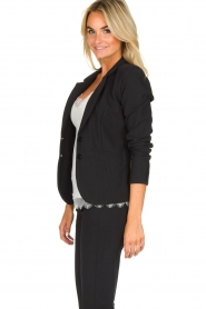 D-ETOILES CASIOPE |  Wrinkle-free stretch blazer Saint | black  | Picture 6