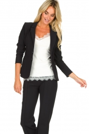 D-ETOILES CASIOPE |  Wrinkle-free stretch blazer Saint | black  | Picture 5