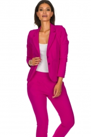 D-ETOILES CASIOPE |  Wrinkle-free stretch blazer Saint | pink  | Picture 2
