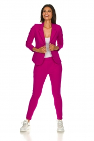 D-ETOILES CASIOPE |  Wrinkle-free stretch blazer Saint | pink  | Picture 3