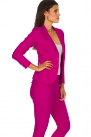 D-ETOILES CASIOPE |  Wrinkle-free stretch blazer Saint | pink  | Picture 4