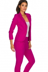 D-ETOILES CASIOPE |  Wrinkle-free stretch blazer Saint | pink  | Picture 5