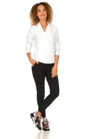 D-ETOILES CASIOPE | Wrinkle-free stretch blouse Sangria | white  | Picture 3
