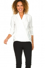 D-ETOILES CASIOPE | Wrinkle-free blouse Sangria | white  | Picture 2