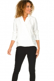 D-ETOILES CASIOPE | Wrinkle-free stretch blouse Sangria | white  | Picture 6