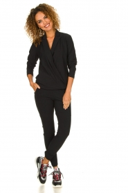 D-ETOILES CASIOPE | Wrinkle-free stretch blouse Sangria | black  | Picture 3