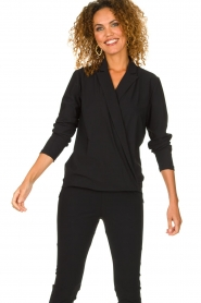 D-ETOILES CASIOPE | Wrinkle-free stretch blouse Sangria | black  | Picture 6