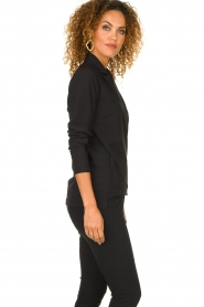 D-ETOILES CASIOPE | Wrinkle-free stretch blouse Sangria | black  | Picture 4