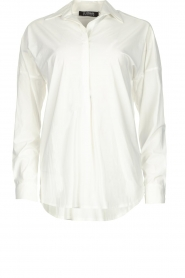 D-ETOILES CASIOPE |  Wrinkle-free stretch blouse Sauvage | white  | Picture 1