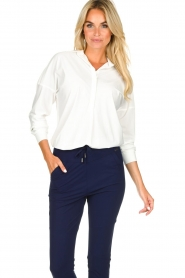 D-ETOILES CASIOPE |  Wrinkle-free stretch blouse Sauvage | white  | Picture 4