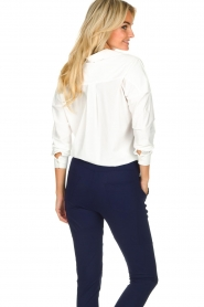 D-ETOILES CASIOPE |  Wrinkle-free stretch blouse Sauvage | white  | Picture 6