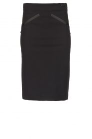 D-ETOILES CASIOPE |  Wrinkle-free stretch skirt Sharita | black  | Picture 1