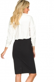 D-ETOILES CASIOPE |  Wrinkle-free stretch skirt Sharita | black  | Picture 6