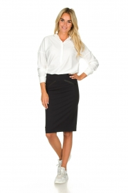D-ETOILES CASIOPE |  Wrinkle-free stretch skirt Sharita | black  | Picture 3