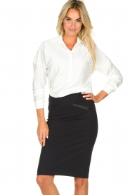 D-ETOILES CASIOPE |  Wrinkle-free stretch skirt Sharita | black  | Picture 4