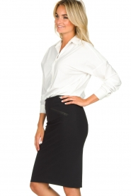 D-ETOILES CASIOPE |  Wrinkle-free stretch skirt Sharita | black  | Picture 5