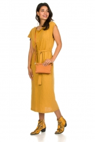 American Vintage |  Dress with matching belt Bysapick | yellow  | Picture 3