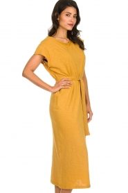 American Vintage |  Dress with matching belt Bysapick | yellow  | Picture 4
