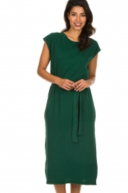 American Vintage |   Dress with matching belt Bysapick | green  | Picture 4
