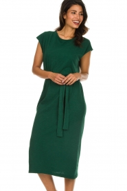 American Vintage |   Dress with matching belt Bysapick | green  | Picture 2