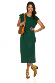 American Vintage |   Dress with matching belt Bysapick | green  | Picture 3