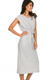 American Vintage |  Midi dress with matching belt Bysapick | grey  | Picture 5