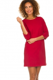 American Vintage |  Sweater dress Berry | red  | Picture 5