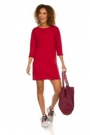 American Vintage |  Sweater dress Berry | red  | Picture 3