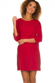 American Vintage |  Sweater dress Berry | red  | Picture 4